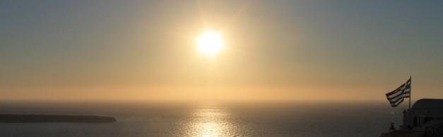 Zonsondergang Santorini Griekenland