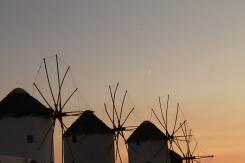 Windmolens op Mykonos - strandvakantie Griekenland