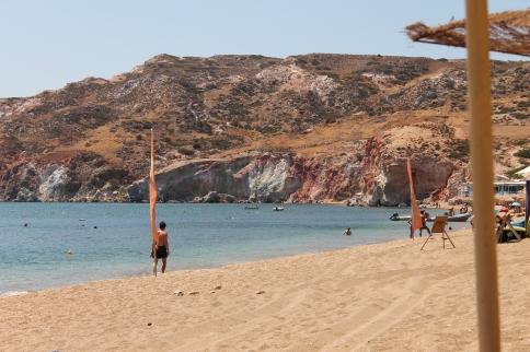 Ag Kyriaki, een prachtig strand op Milos. Vakantie Milos, Griekse Cycladen