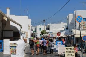 Centrum ingang Mykonos strandvakantie Griekse Cycladen