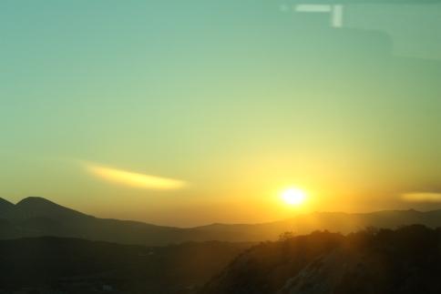 zonsondergang Milos