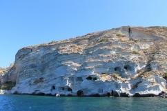 puimsteenrotsen Milos Cycladen