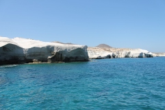 blauw zeewater strandvakantie Milos Griekenland
