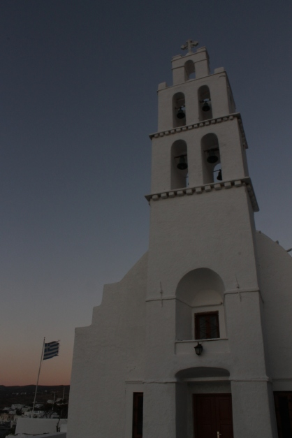 Kerk op Ios vlakbij oude haven