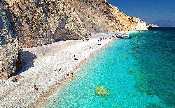 Lalaria beach Griekenland strandvakantie