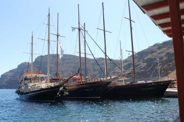 met de boot naar vulkaaneiland - tour Santorini Zon Zee Strand en Vulkaan
