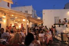 Restaurant vlakbij de windmills - zonvakantie Mykonos Griekse Cycladen