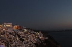 Santorini - Fira by night