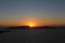 Santorini - Zonsondergang Fira