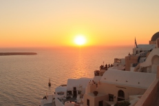 Santorini - Zonsondergang Oia IV