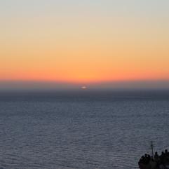 zonsondergang Santorini strandvakantie
