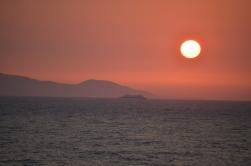 zonsondergang strand zon vakantie winter