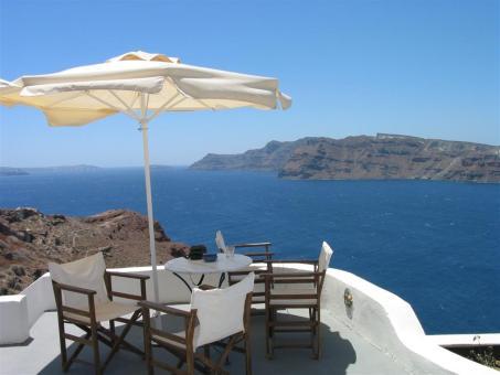 Griekenland lastminute strandvakantie uitzicht op zee