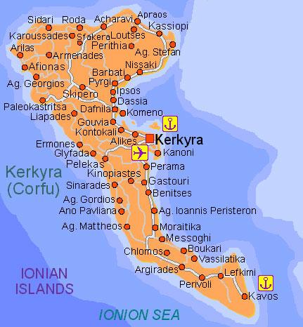 Corfu, strandvakantie