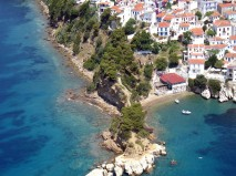 aerial-view-of-a-greek-island-zonvakantie griekenland