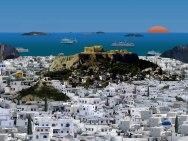 athene, zon zee strand