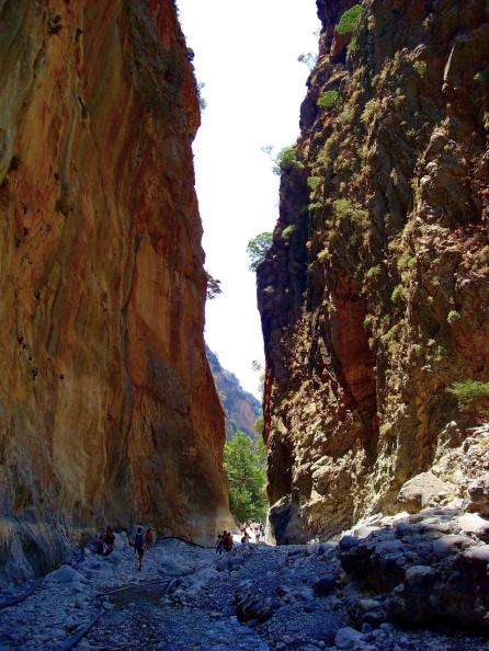 Samaria Gorge kloof zonvakantie