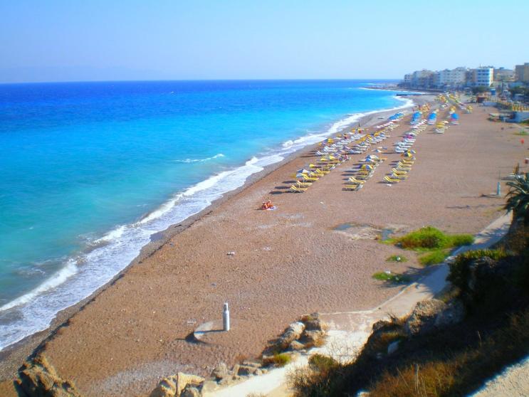 strand rhodos zonvakantie