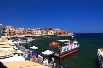 venetiaanse haven op kreta- vakantie