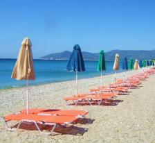 Pythagorion beach strand samos griekenland vakantie