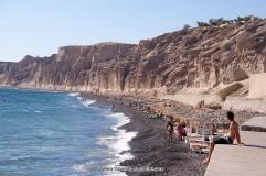 strand santorini