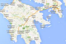 waar ligt Peloponnesos - kaart