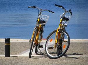 fietsen op vakantie in kos griekenland, zon zee strand 2