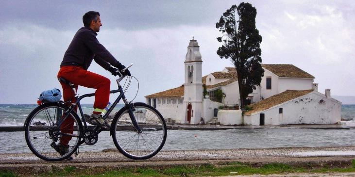 fietsen op vakantie in kos griekenland, zon zee strand 4