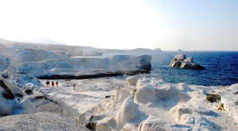 milos puimsteenrotsen griekenland zonvakantie
