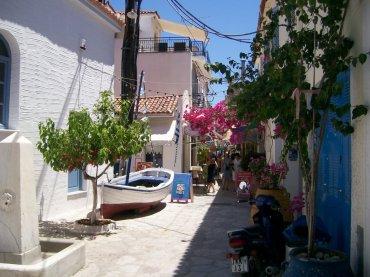 poros dorp Griekenland zonvakantie