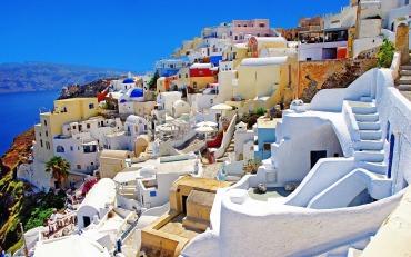 Santorini-Griekenland eilandhoppen