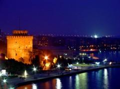White Tower Thessaloniki griekenland zon vakantie zee strand