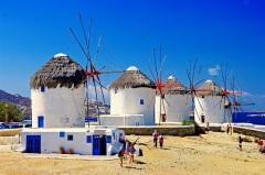 windmolens mykonos griekenland zonvakantie