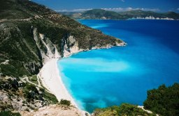 strand op rondreis door Greece