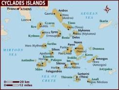 cycladen kaart vakantie aanbiedingen