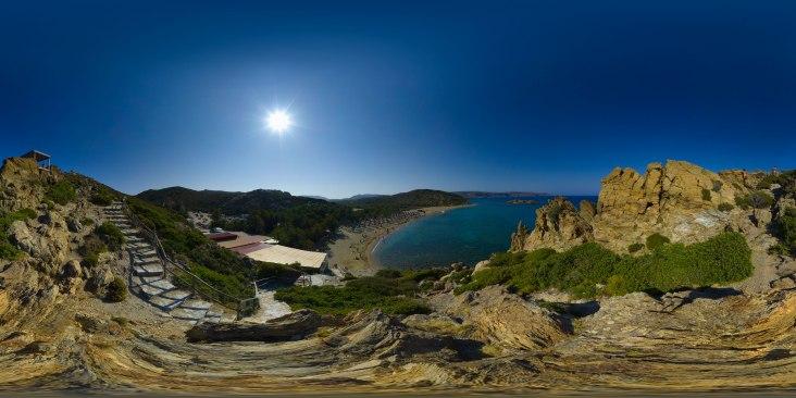vai panorama strand palmenstrand vakantie kreta griekenland