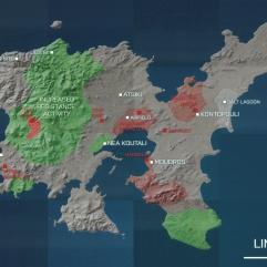 Limnos-paradijs op aarde- vakantie griekenland - kaart
