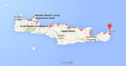 Vai beach locatie - vakantie Kreta