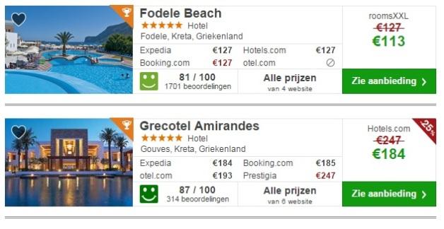 vijf sterren hotels Kreta vakantie