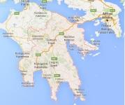 kaart Peloponnesos