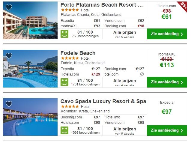 luxe hotels kreta vakantie