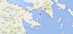 aegina kaart griekenland vakantie