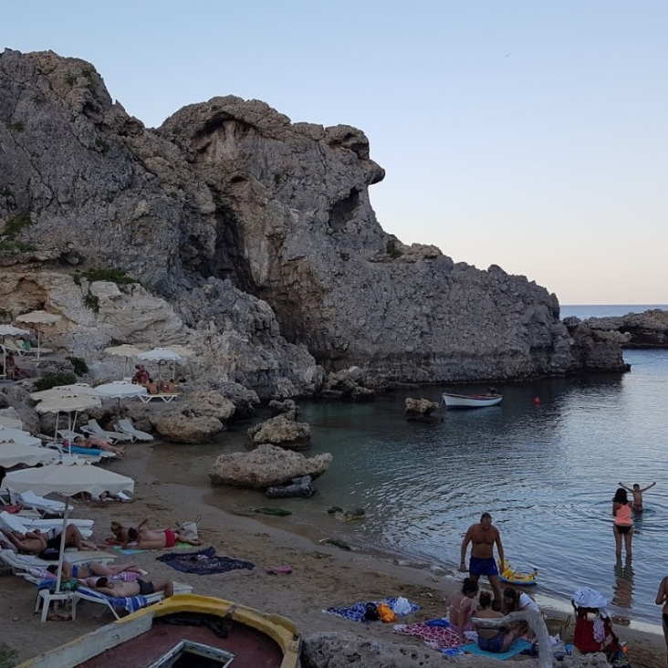 Rhodos, st Pauls bay, strand, baai vakantie 12