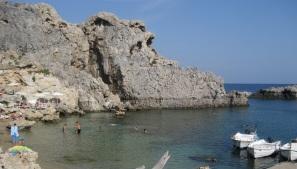 Rhodos, st Pauls bay, strand, baai vakantie 123