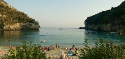 Paleokastritsa, corfu, vakantie, griekenland mooi strand 12
