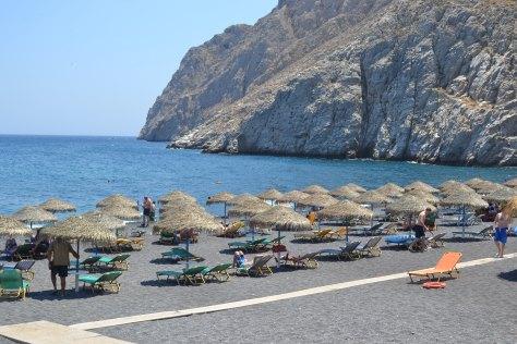 kamari strand Santorini