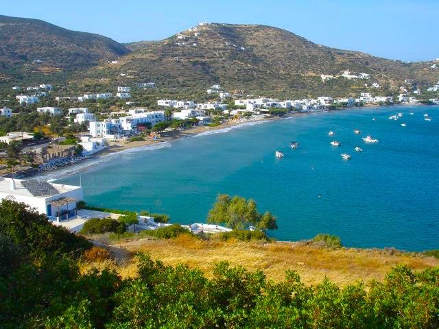 strand Platis Gialos- Sifnos lekker duiken en snorkelen
