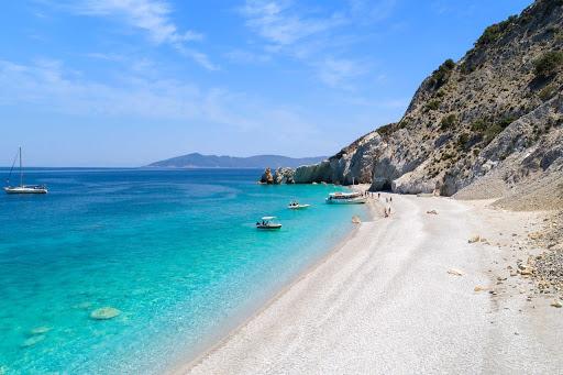 Lalaria strand op Skiathos, lekker snorkelen hier