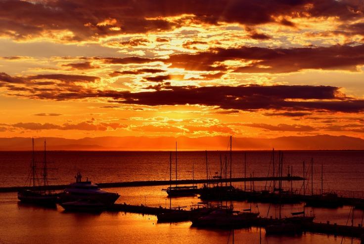 zonsondergang vakantie griekenland