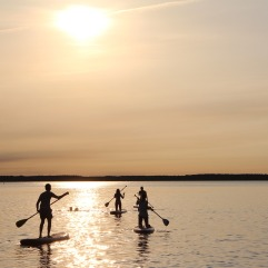 stand-up-paddle-suppen op vakantie in Griekenland